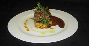 Image of Char-gilled Alpaca Sirloin with Bolivian Quinoa and Chimichurri Sauce